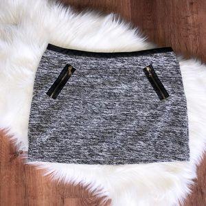 Light Tweed Mini Skirt